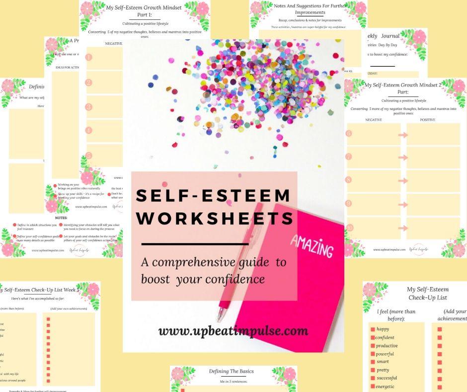 printable self cofidence worksheets